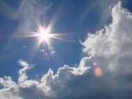 Clouds clear to reveal sunlight, blue sky & hope. Clouds that were dark now have silver linings.