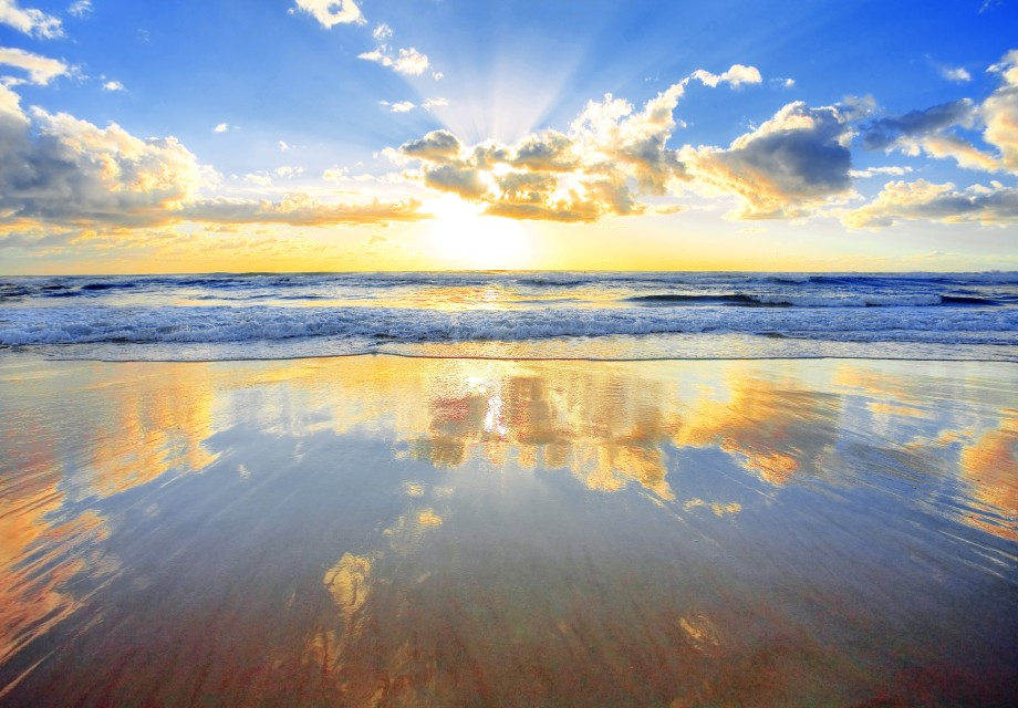 Sunrise Sea Reflection